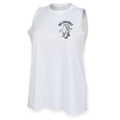Skateboarder High Neck Muscle Vest - Big Crocodile