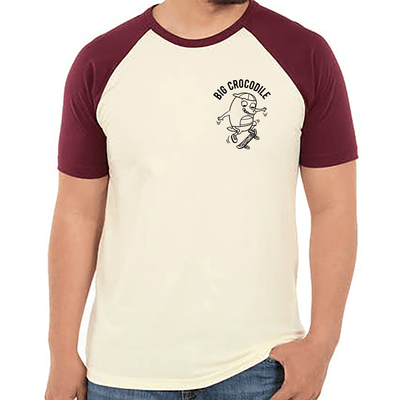 Skateboarder Varsity T Shirt - Big Crocodile