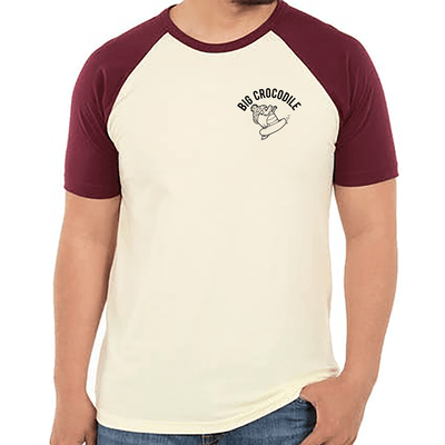 Snowboarder Varsity T Shirt - Big Crocodile