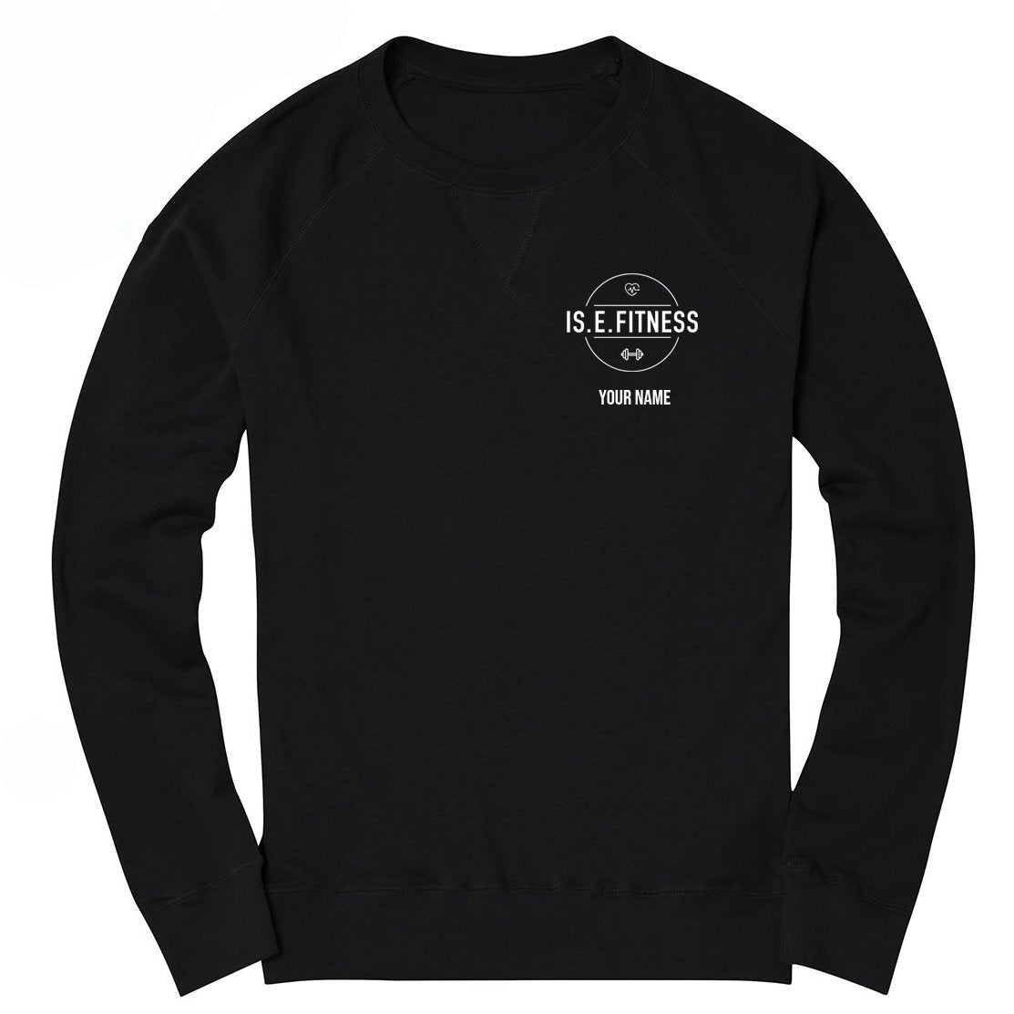 Sweatshirt - IS.E.FITNESS Black Sweatshirt