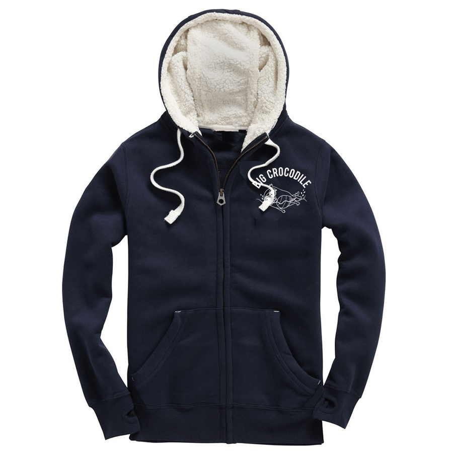 Swimmer Fleece Lined Zip Up Hoodie - Big Crocodile
