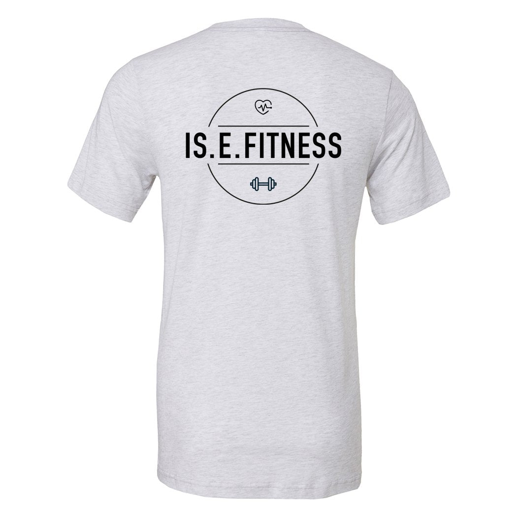 T Shirt - IS.E.FITNESS White Marl T Shirt Wholesale