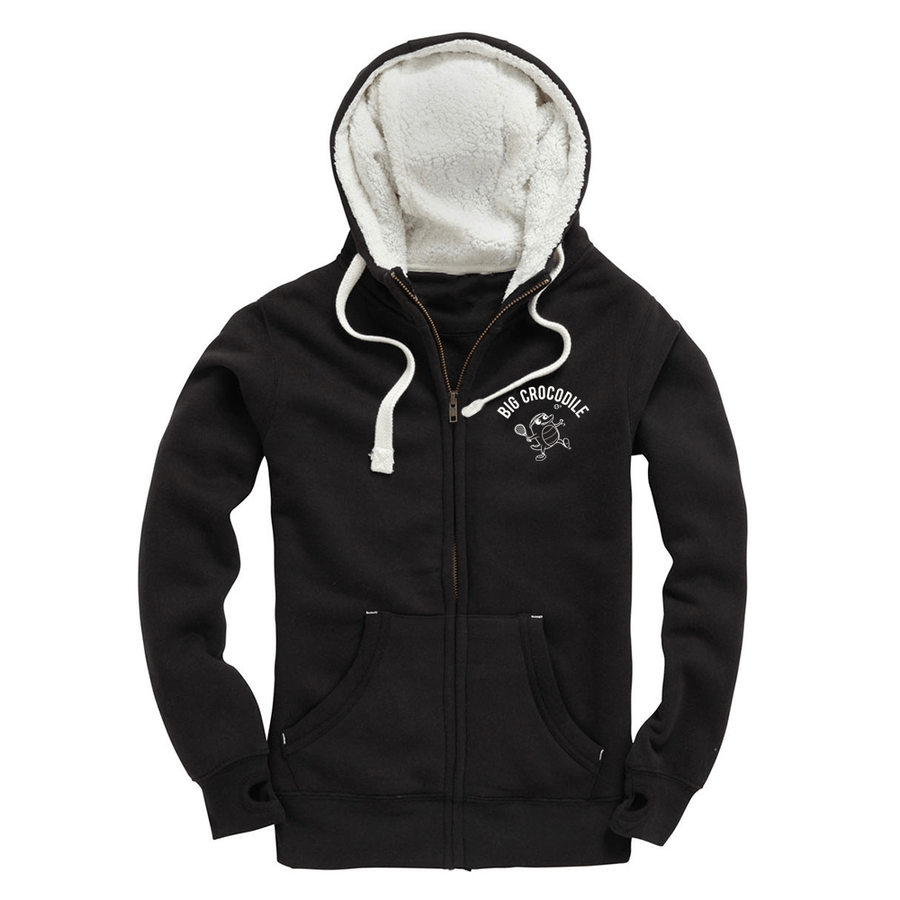Tennis Fleece Lined Zip Up Hoodie - Big Crocodile