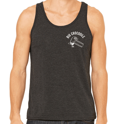 Tyre Flipper Mens Vest - Big Crocodile