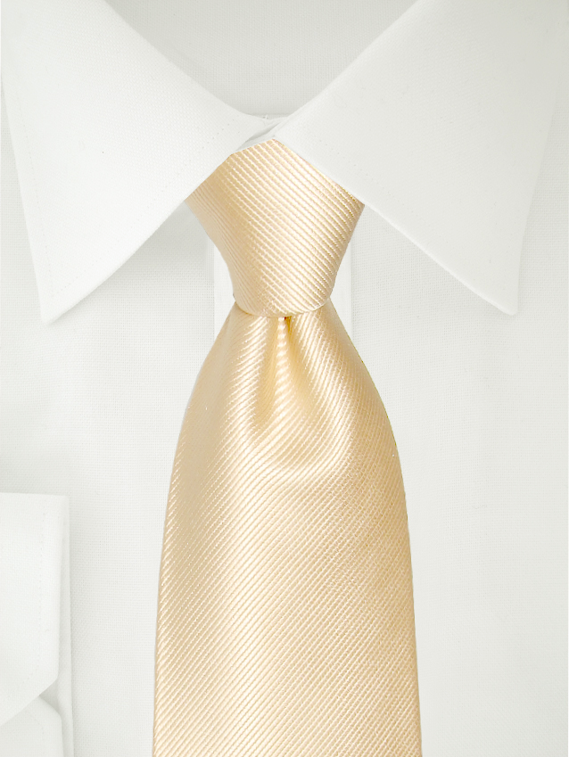 Necktie White Gold XL
