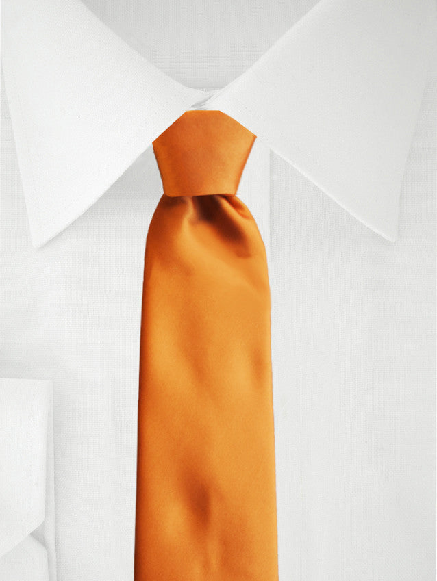 Necktie Orange Satin