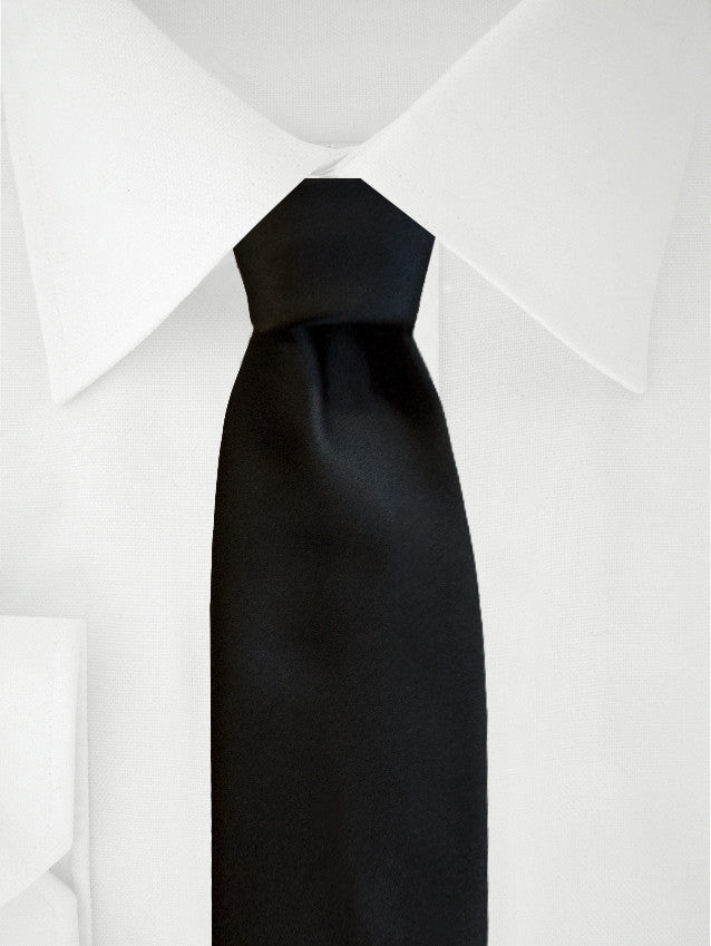 Necktie Black Satin