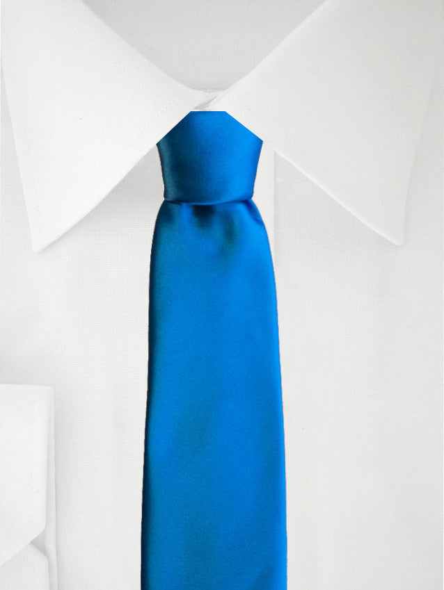 Necktie Blue Satin
