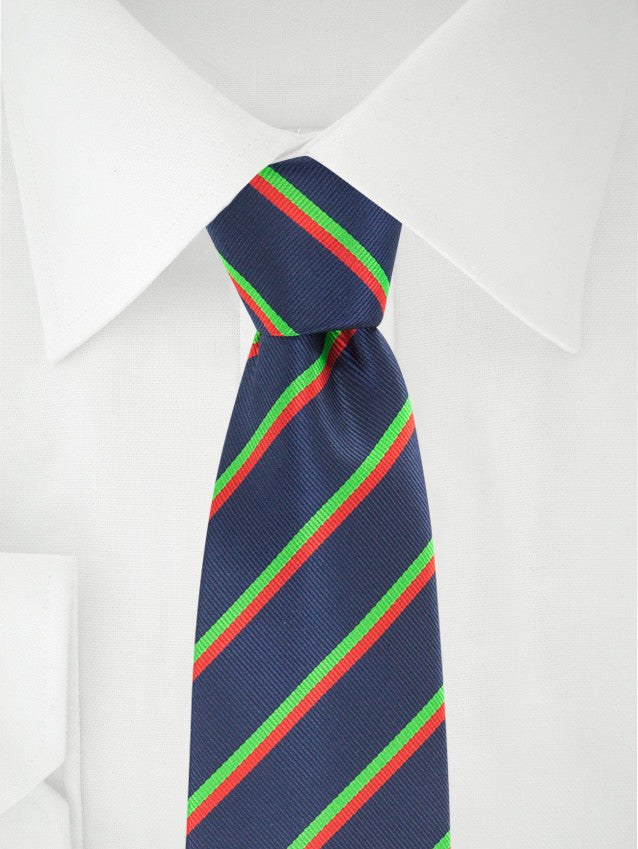 Necktie Stripes Blue / Green / Red