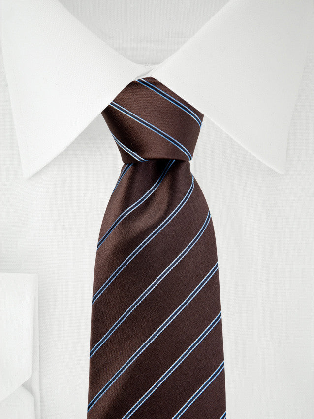 Necktie Brown / Blue Stripes
