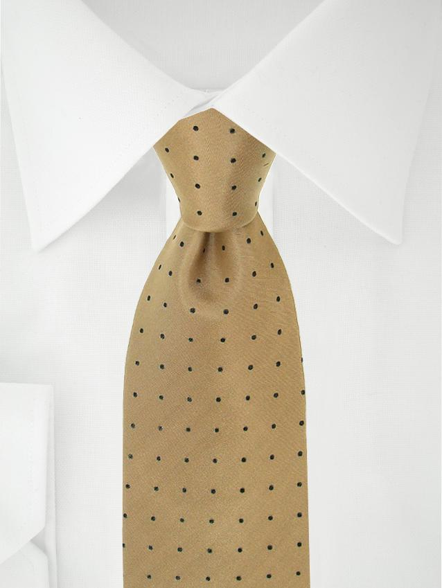 Necktie Light Brown Polka Dotted
