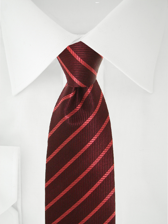 Necktie Dark Red / Red Stripes