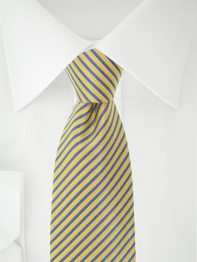 Necktie Yellow / Blue Stripes