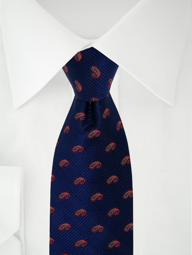 Necktie Blue / Red Paisley