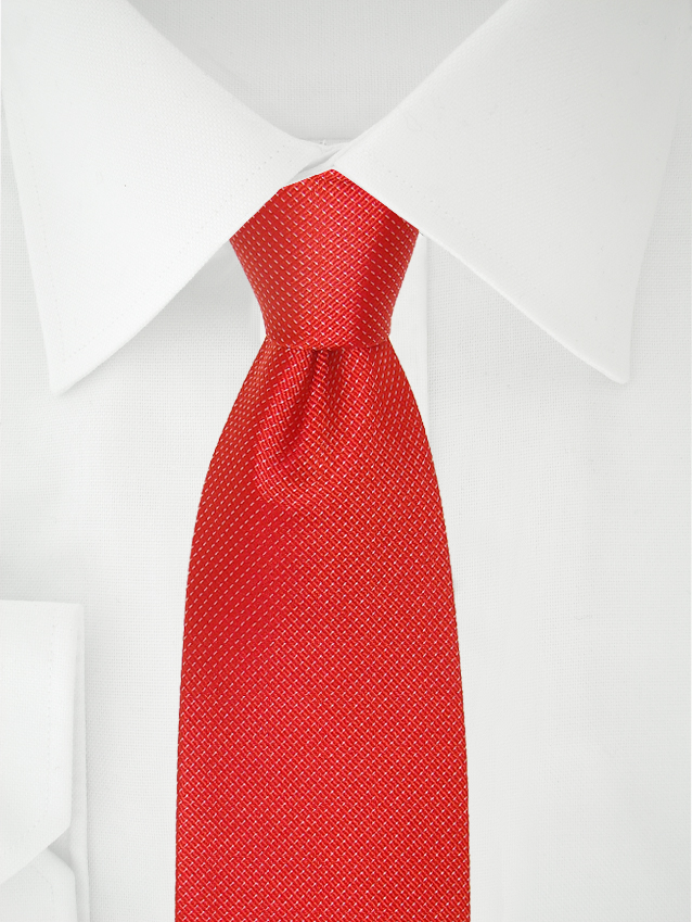 Necktie Red / White Stripes