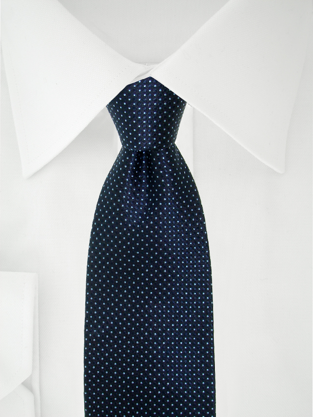 Necktie Navy Blue / Light Blue Polka Dotted