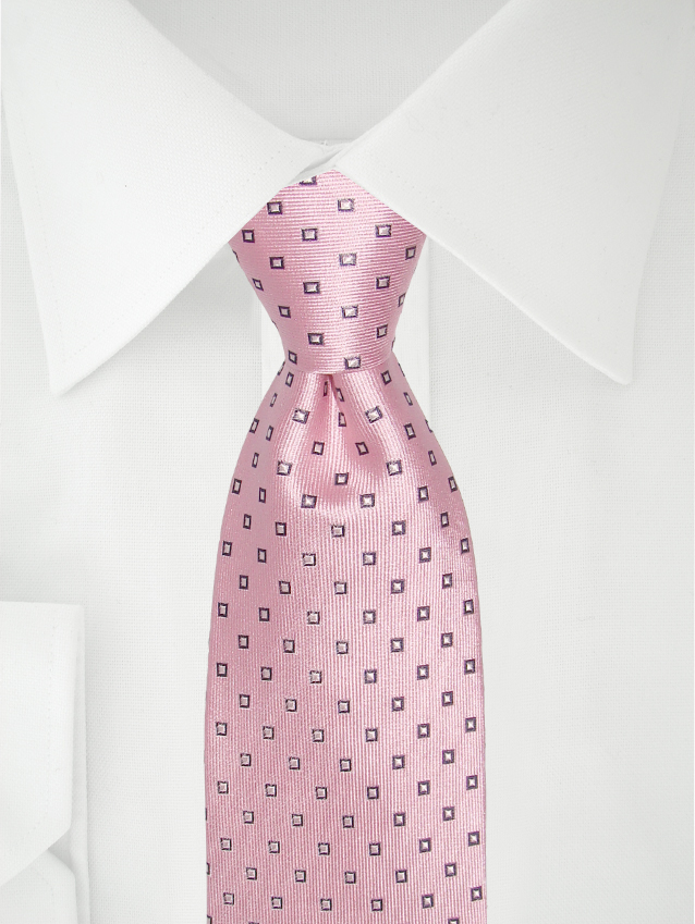 Necktie Checkered Pink / Purple