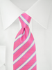 Necktie Pink / White / Blue Stripes
