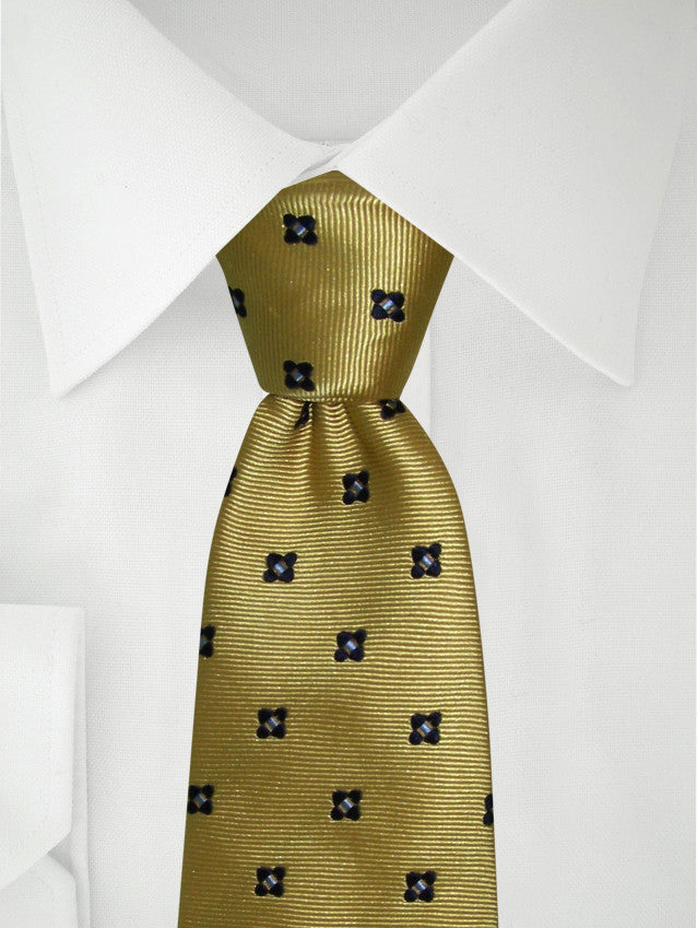 Necktie Yellow Pattern