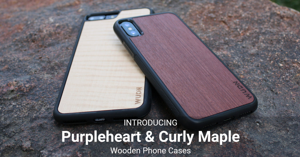 Introducing Purpleheart & Curly Maple Real Wooden Phone Cases (Fresh & Unique)