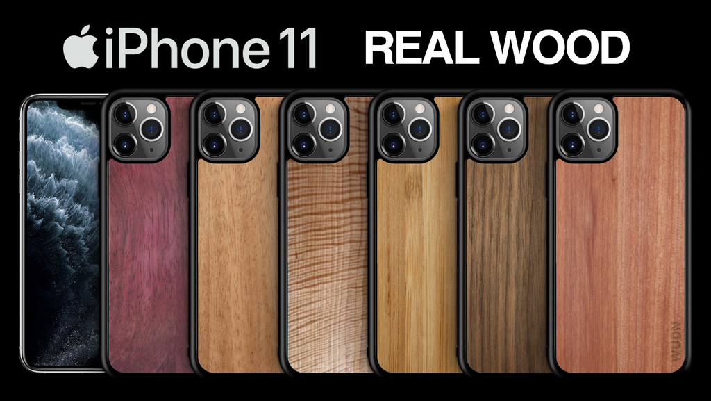 iPhone 11 Cases in Real Wood