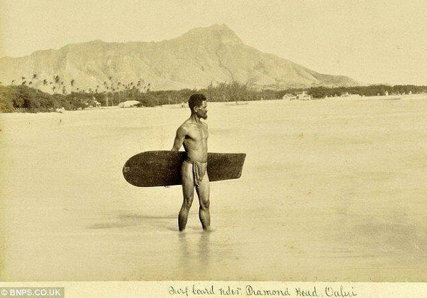 Earliest known photo of a surfer. Hawaii, 1890 - old school cool