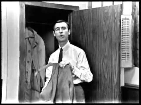 "Mr. Rogers on the first ever episode of ""Mister Rogers Neighborhood"" ~1968"
