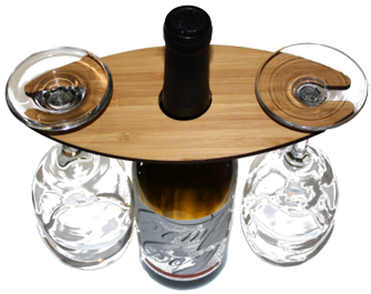 WUDN Wooden Wine Glass Caddy - Wine Butler