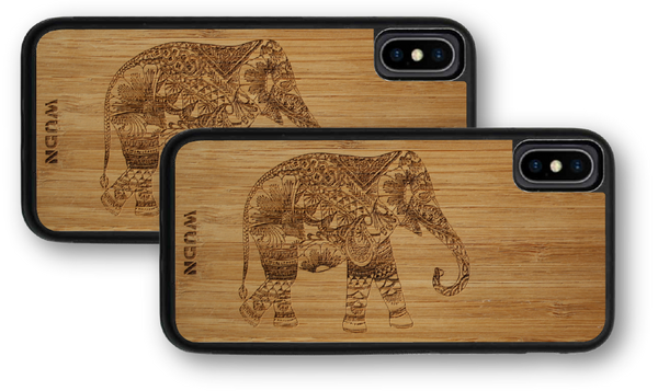 Wooden phone case, wood phone case, wooden iphone case, wood iphone case, wooden galaxy case, wood galaxy case, elephant phone case, elephant iphone case