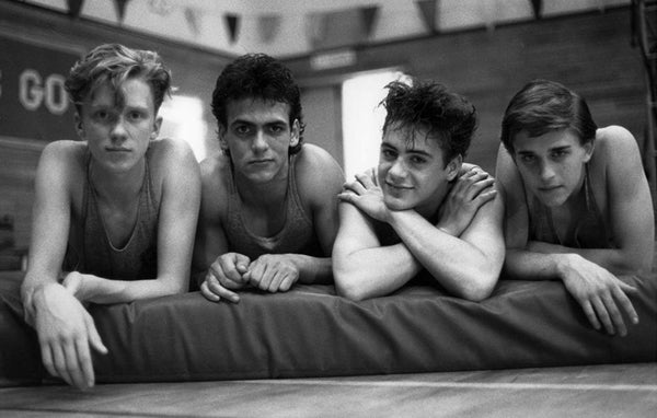 Young Robert Downey Jr. and the cast of Weird Science, 1985.