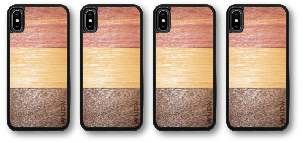 3-Wood ombre wood inlay phone case for iPhone and Samsung Galaxy
