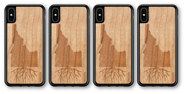 slim wood case for iphone and samsung galaxy laser engraved idaho roots in american cherry