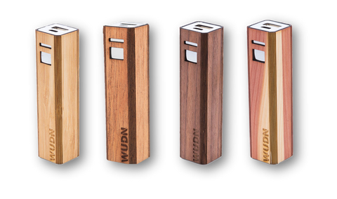Wooden engraved powerbank lipstick small charger Promotional Product Wholesale Laser Engraved Customized WUDN Swag