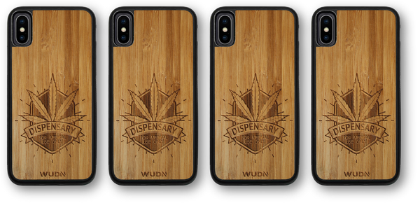 Wooden phone case, wood phone case, wooden iphone case, wood iphone case, wooden galaxy case, wood galaxy case, Marijuana Dispensary phone case, Marijuana iphone case
