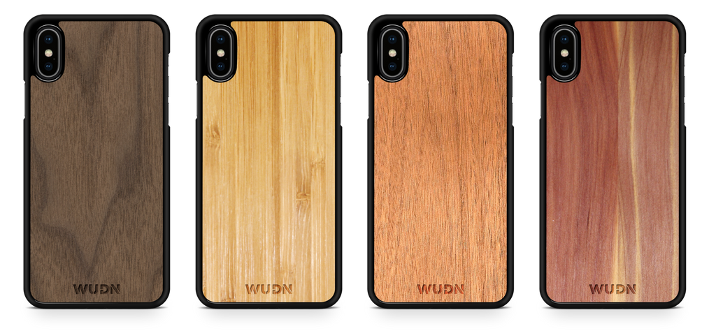 Wooden iPhone Case, Mahogany, Black Walnut, Aromatic Cedar, Carmalized Bamboo