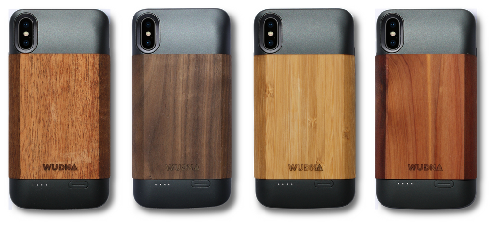 iPhone Xs Max Wooden Battery Charging Case