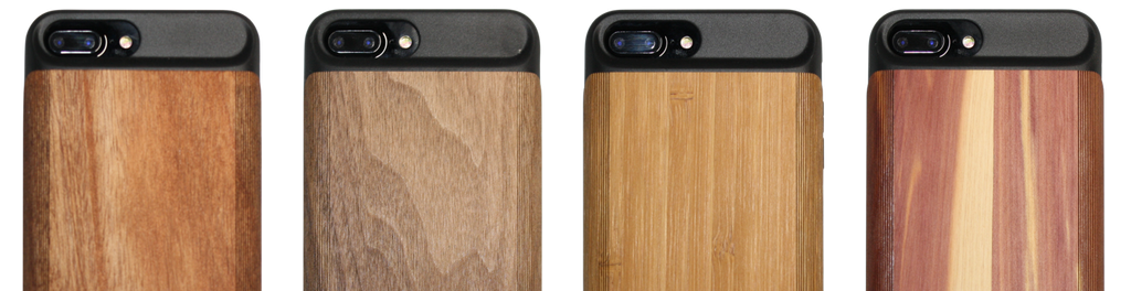 iPhone 6 Plus, iPhone 7 Plus, iPhone 8 Plus - Wooden Battery Charging Case