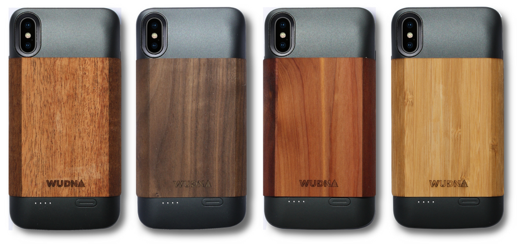 iPhone Xr Wooden Battery Charging Case