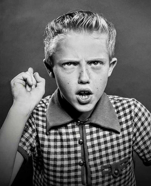 10-year-old Christopher Walken in 1953