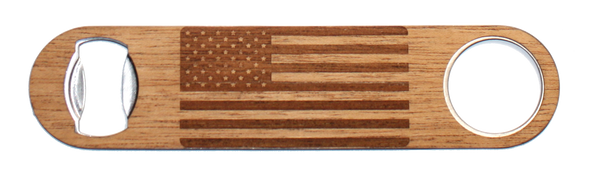 American Flag Bottle opener, wood American Flag Bottle opener, engraved American Flag Bottle opener