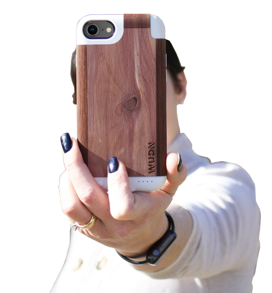 iPhone 7 battery case, iphone 8 battery case, wooden iphone battery case, wood iphone battery case