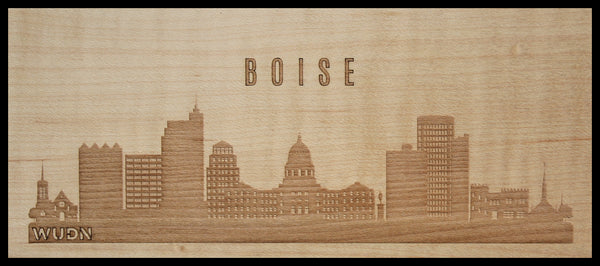 CityScape City Skyline Wooden Phone Case Collection Boise, ID