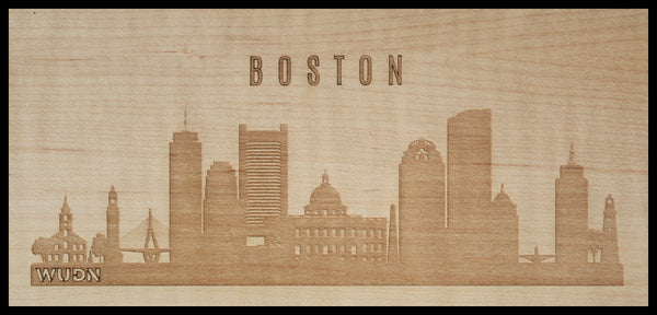 CityScape City Skyline Wooden Phone Case Collection Boston MA