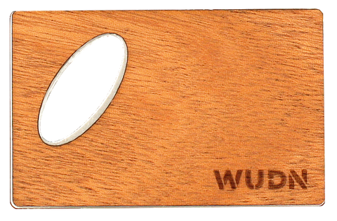wood credit card size bottle opener