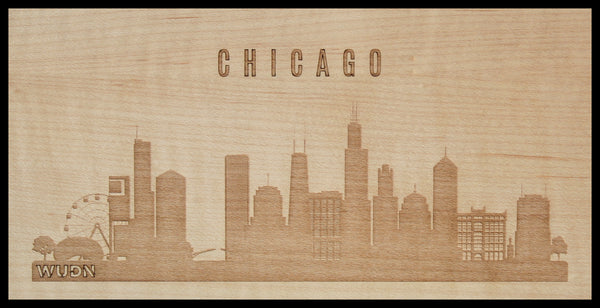CityScape City Skyline Wooden Phone Case Collection Chicago, IL