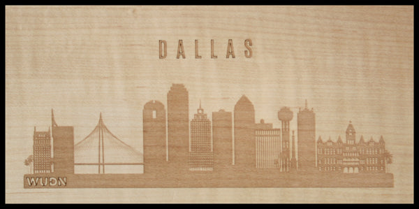 CityScape City Skyline Wooden Phone Case Collection Dallas, TX