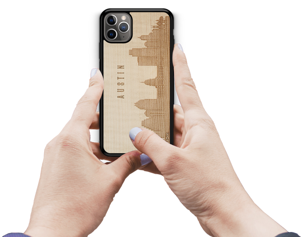 CityScape City Skyline Wooden Phone Case Features