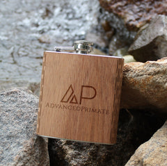 Wooden 6 oz. Hip Flask, 2 oz. Keychain Flask, Promotional Product Wholesale Laser Engraved Customized WUDN Swag