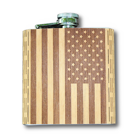 Our politics is broken, but I am still a patriot. And this flask is perfect for drinking away the nightly news. PS. Real Bourbon kills the Corona Virus (I wish). 'Murica! The new 6 oz American Flag Hip Flask is here. Available in rich Mahogany hardwood with laser Engraved American Flag! Show off your love for our nation with this real wood, handcrafted, and patriotic Hip Flask! Handcrafted with pride in Hidden Springs, Idaho, USA. Order yours now. #WUDN #America