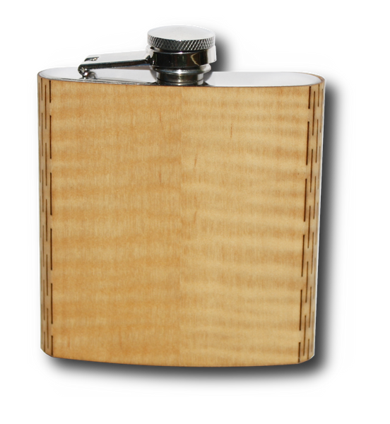 Wood Hip Flask Shimmering Maple